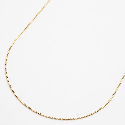 18金 イエローゴールド ネックレス ベネチアンチェーン 42cm 3604-NM17