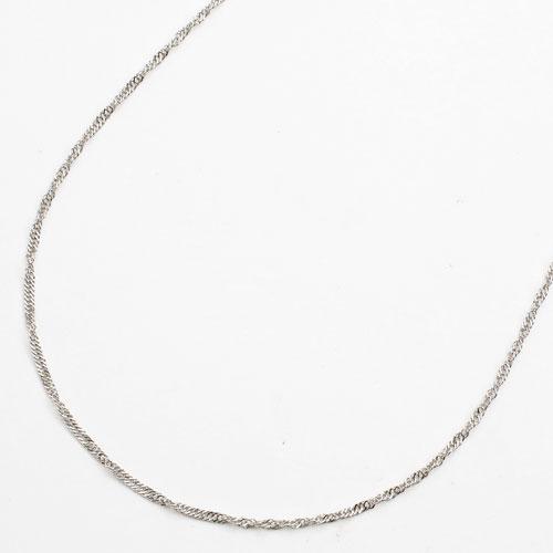 純プラチナ(純Pt/Pt999) ネックレス スクリューチェーン 45cm 1.9g 3626-NM17