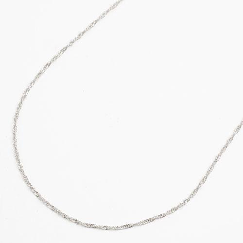 純プラチナ(純Pt/Pt999) ネックレス スクリューチェーン 50cm 2g 3627-NM17