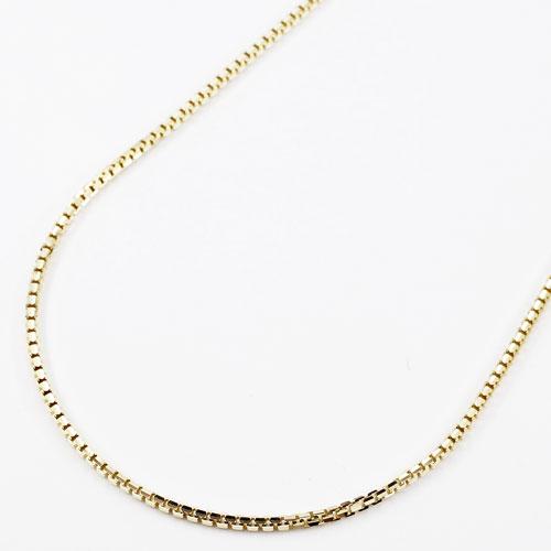 18金 イエローゴールド ネックレス ベネチアンチェーン スライド 50cm V字カット 3665-NS17