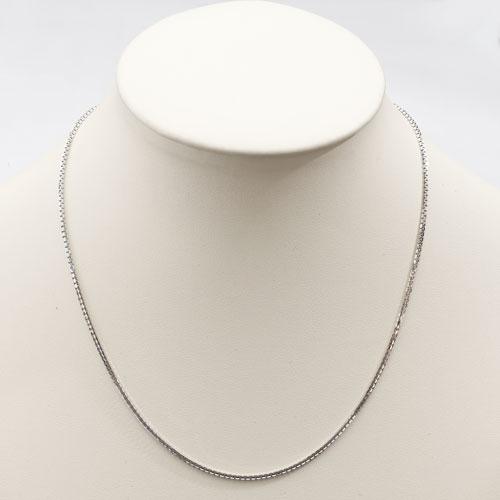 18金 ホワイトゴールド ネックレス ベネチアンレール 45cm 3667-NS17
