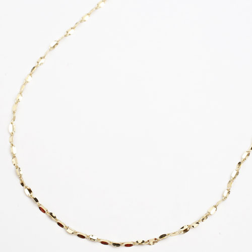 18金 ロングネックレス ネックレス 70cm 3.2g キール 3669-NS17