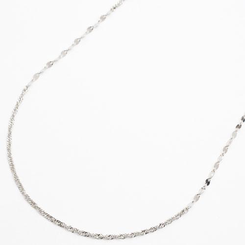 純プラチナ pt999 純pt ネックレス スクリューチェーン 42cm 2.2g 3673-NM17
