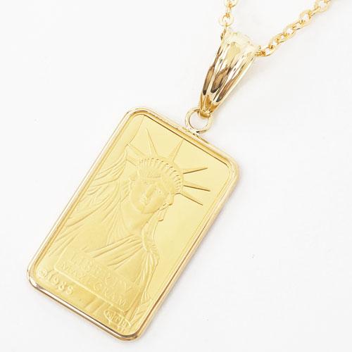 純金 インゴット コイン 金貨 ペンダント リバティ スイス製 3718-JN18