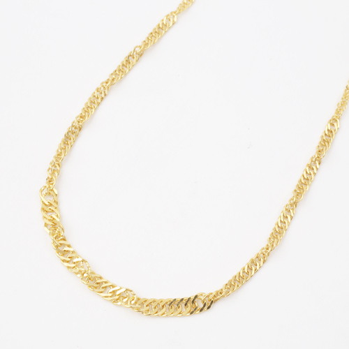 純金 ネックレス スクリュー チェーン 45cm 8.2g K24 刻印 3721-NM17
