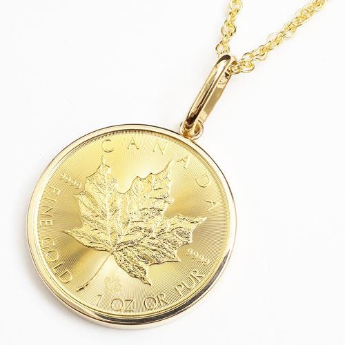 純金 メイプルリーフ 1オンス 30g コイン 金貨 ペンダント 3725-JN17