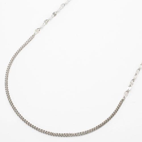 プラチナ850 甲丸&ペダル ロング ネックレス 80cm 8g 3780-NM18