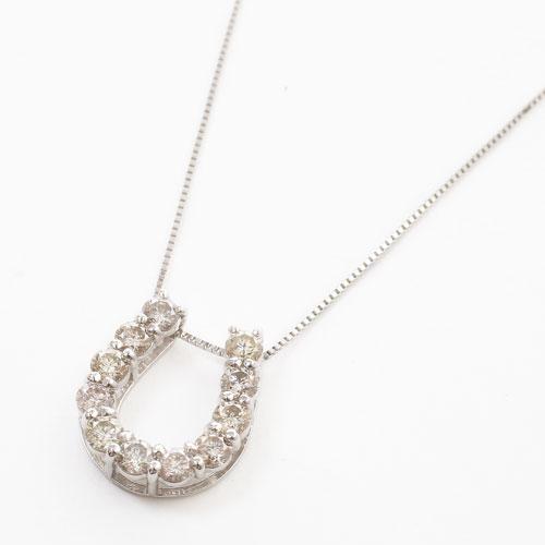プラチナ Pt900/Pt850 ダイヤモンド 1ct Iクラス ペンダント 馬蹄 3822-HG19