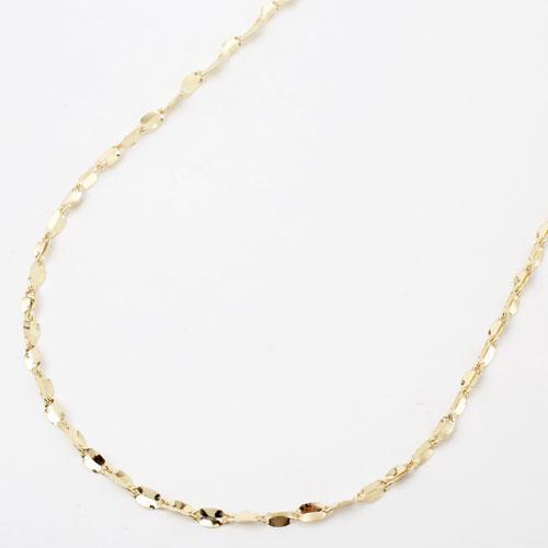 日本製 18金 ネックレス キール ペダル K18 42cm 3863-NM18