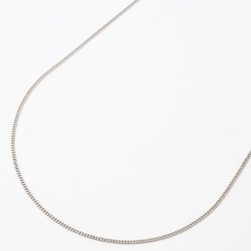 プラチナ850 40cm 1g 2面カット 喜平チェーン ネックレス 検定入 3887-NM18