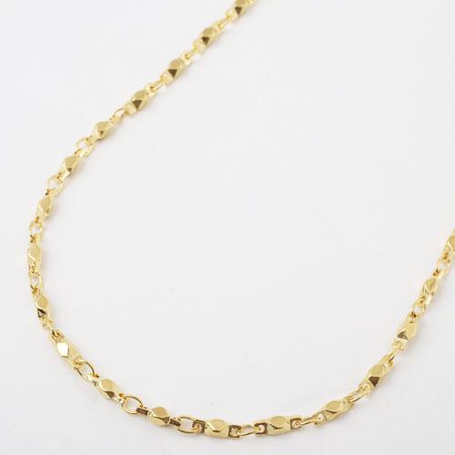 真鍮 ゴールド仕上げ ネックレス デザイン ショート切子 磁気 マグネット 3923-YA18