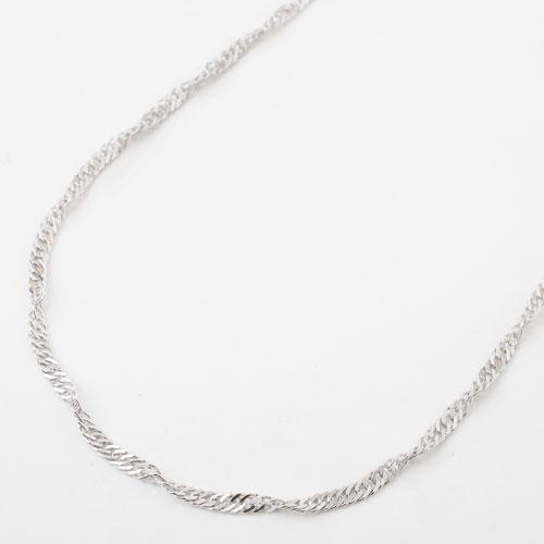 真鍮 ロジウム仕上げ ネックレス デザイン スクリュー 磁気 マグネット 3923-YA18