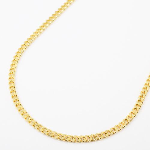 真鍮 ゴールド仕上げ ネックレス デザイン 2面カットキヘイ 磁気 マグネット 3925-YA18