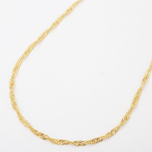 真鍮 ゴールド仕上げ ネックレス デザイン スクリュー 磁気 マグネット 3926-YA18
