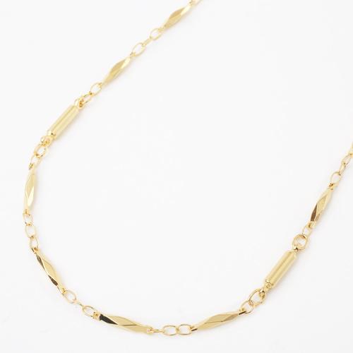 真鍮 ゴールド仕上げ ネックレス デザイン デラックス切子 磁気 マグネット 3928-YA18