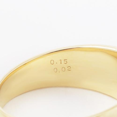 18金 K18 イエローゴールド ダイヤモンド入り 男女兼用 リング 3993-HG19