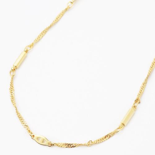 日本製 真鍮 磁気ネックレス ゴールド仕上げ  男女兼用 ネックレス  4017-YA18