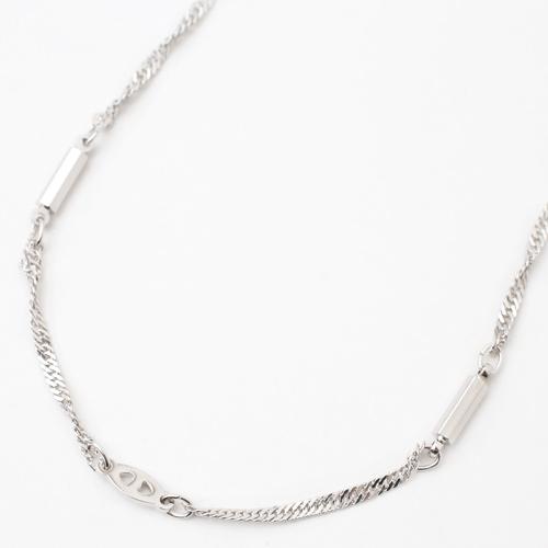 鍮 ロジウム仕上げ ネックレス デザイン スクリュー 磁気 マグネット  4018-YA18