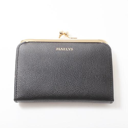 日本製 レザー 牛革 財布 二つ折り ナイロン ブラック 4037-MZ18