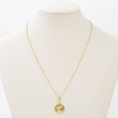 純金 K24 エンジェルコイン コイン 金貨 ペンダント ネックレス 1/10オンス 4049-JN19