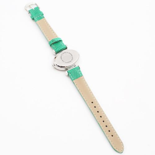 イタリア製 ベネチアングラス グリーン 時計 ハンドメイド 4071-GO19