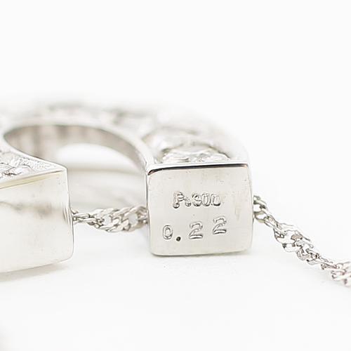 プラチナ900 ダイヤモンド 合計0.22ct ペンダント バテイ 4162-TK19