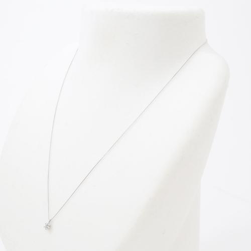 純プラチナ ダイヤモンド 0.23ct Pt999-Pt850 ペンダント 鑑別カード付き 4174-UK19