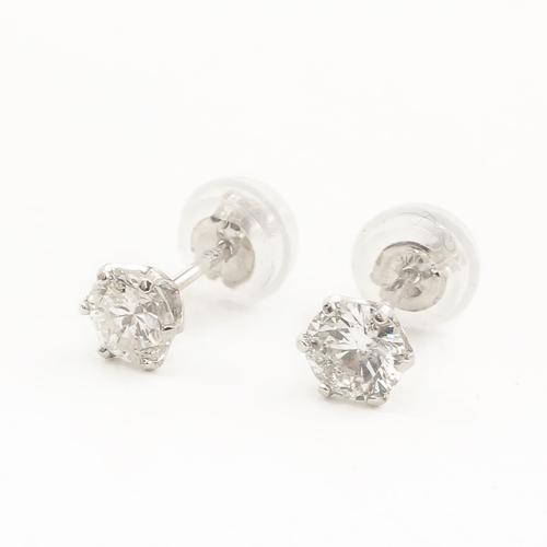 純プラチナ ダイヤモンド 0.23ct Pt999-Pt850 ピアス 鑑別カード2枚付き 4175-UK19