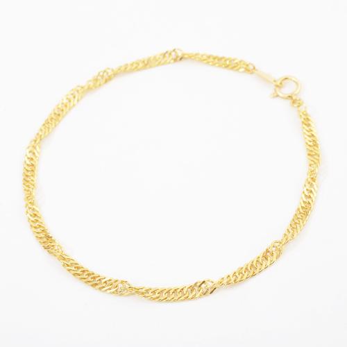 純金 K24 ブレスレット  スクリューチェーン 19cm 4g 4195-NM19