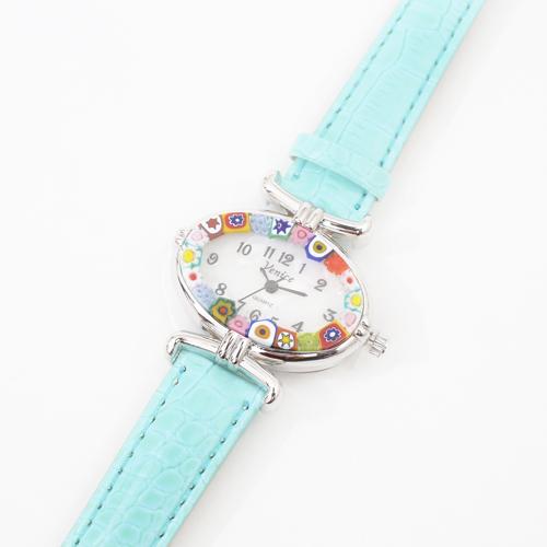 イタリア製 ベネチアンガラス 腕時計 ミントカラー 4198-GO19