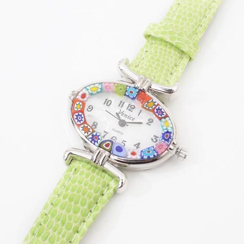 イタリア製 ベネチアンガラス 腕時計 グリーンカラー 4200-GO19