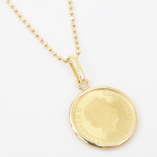 日本製 純金 テディベア コイン ペンダント 1/30オンス 4214-HG20