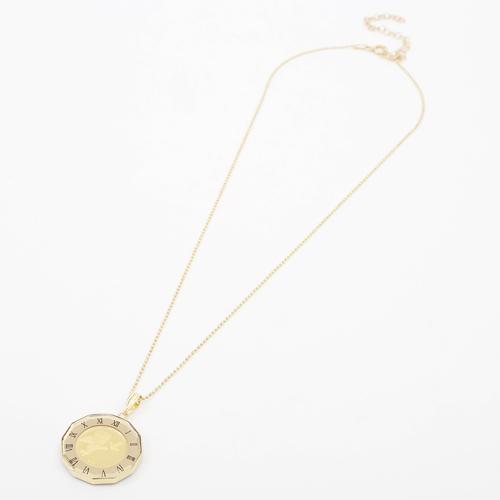 日本製 純金 K18 エンジェル コイン ペンダント  時計盤 デザイン枠 4217-HG20