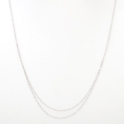 日本製 プラチナ850 Pt850 ネックレス オシャレ 2連 4229-NM20