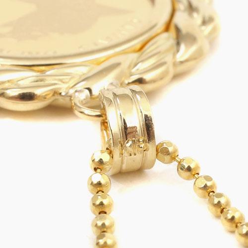 日本製 純金 K18 エンジェル コイン ペンダント 強化ガラス 4241-HG20