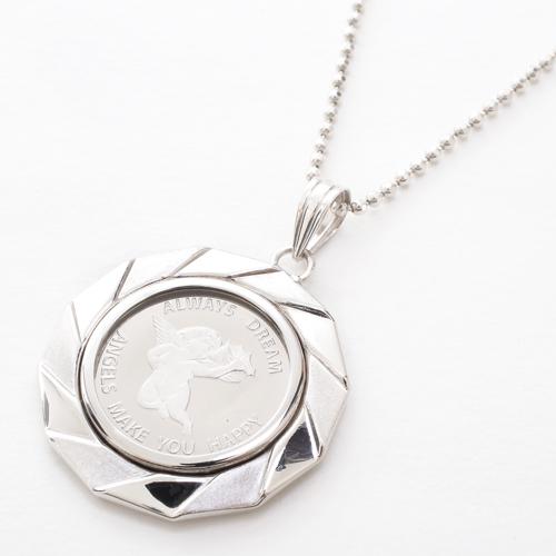 日本製 純プラチナ エンジェル コイン ペンダント 2.5g 4287-HG20