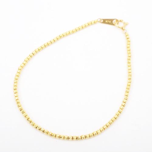 純金 K24 スラッシュ ボール ブレスレット 18cm 1.8g 刻印入 4300-JK20