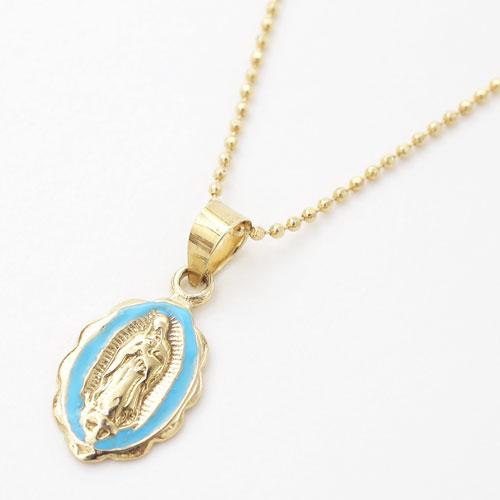 スペイン製 9金 K9 マリア VIRGIN バージン 聖母 ペンダント キリスト クリスマス 母子 聖書 4308-AM20