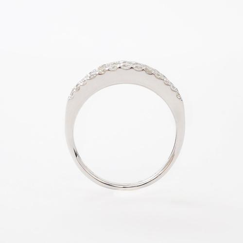 日本製 プラチナ Pt900 リング 指輪 ラウンド・ブリリアント&テーパーカット ダイヤ 4299-JK20