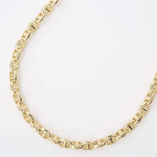 【受注生産】18金 スカル オーバル・スティック ネックレス 50cm 11.3g 4356-MS20