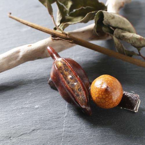 自然素材 木の実 ヘアクリップ オシャレ ヘアアクセサリー 4416-LL20