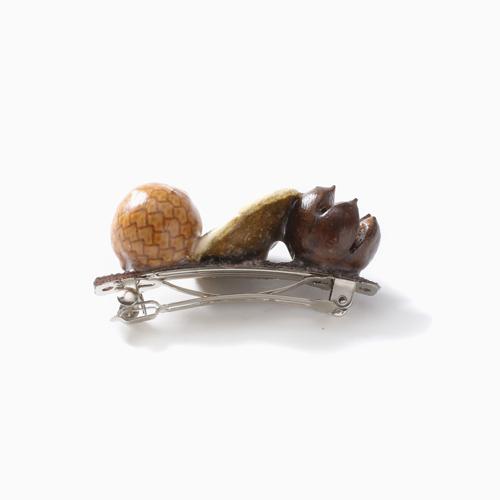 自然素材 木の実 ヘアクリップ オシャレ ヘアアクセサリー 4417-LL20