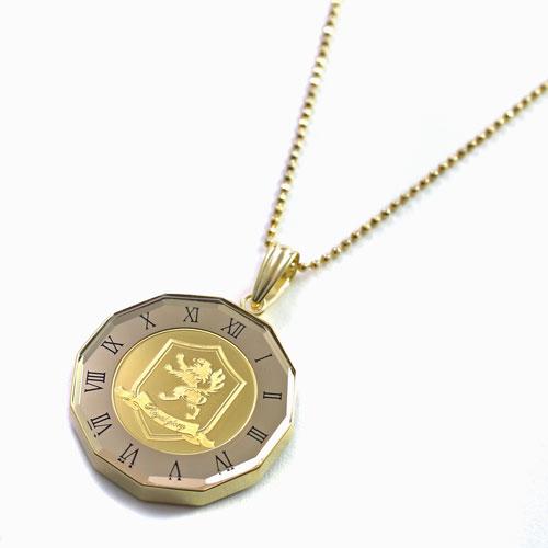 クラウン ライオン 獅子 リバーシブル 純金 K24 コイン  ペンダント 4450-HG21