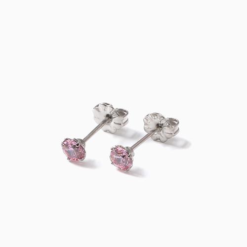 スワロフスキー 純チタン PURETITANIUM MARE マーレ  ピアス 4mm ピンク・ダイヤモンド カラー 4497-TZ21