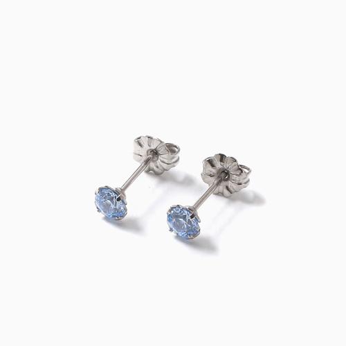 スワロフスキー 純チタン PURETITANIUM MARE マーレ  ピアス  4mm ブルー・ダイヤモンド カラー 4498-TZ21