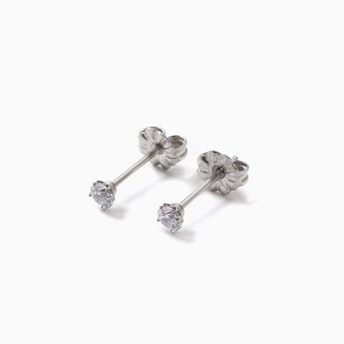 スワロフスキー 純チタン PURETITANIUM MARE マーレ  ピアス 3mm ダイヤモンド・カラー 4499-TZ21