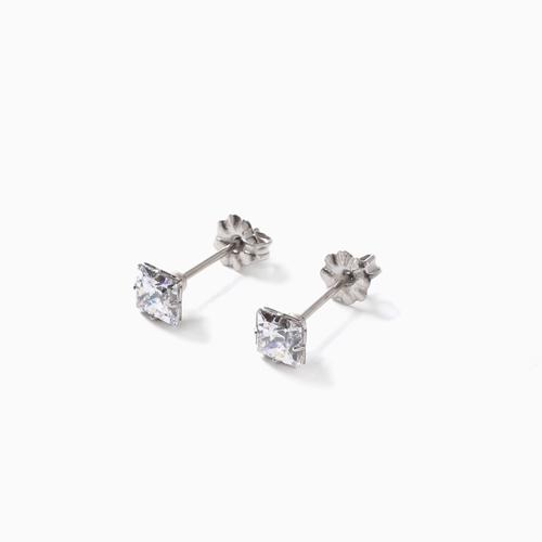 スワロフスキー 純チタン PURETITANIUM MARE マーレ  ピアス  5.5mm ダイヤモンド カラー 4502-TZ21