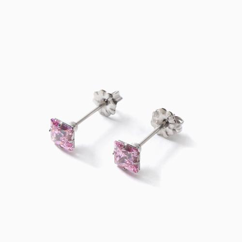 スワロフスキー 純チタン PURETITANIUM MARE マーレ  ピアス 5.5mm ピンク・ダイヤモンド カラー 4503-TZ21