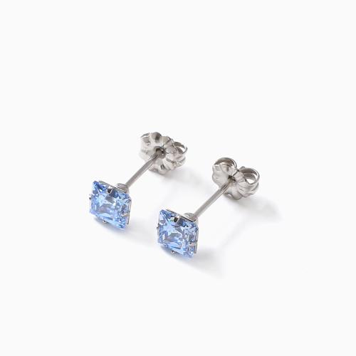 スワロフスキー 純チタン PURETITANIUM MARE マーレ  ピアス 5.5mm ブルー・ダイヤモンド カラー 4504-TZ21