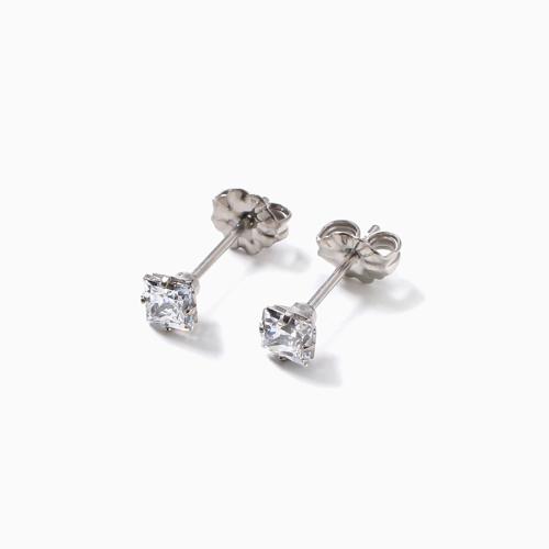 スワロフスキー 純チタン PURETITANIUM MARE マーレ  ピアス 4mm ダイヤモンド カラー 4505-TZ21